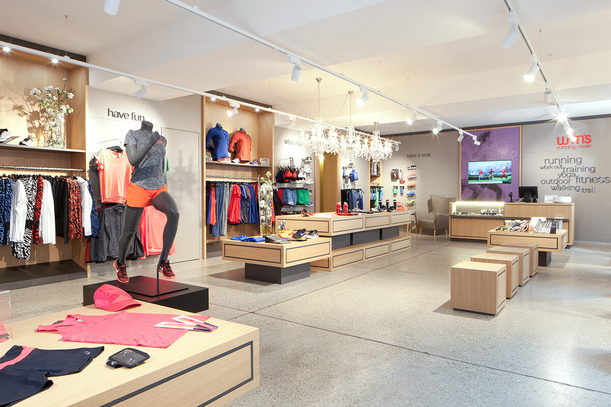 Wmns running store for Wien innenarchitektur